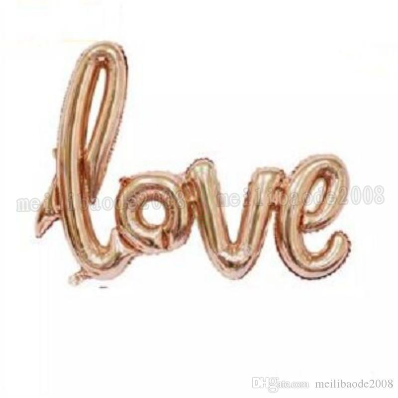 Ligaduras Carta de AMOR Balão Da Folha de Aniversário de Casamento Decoração Do Partido Dos Namorados Balão Vermelho Champagne Frete Grátis MYY