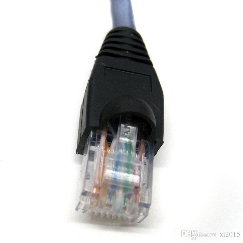 vendita calda 100 pz 30 CM RJ45 Cat5 maschio a femmina Ethernet LAN Vite pannello di montaggio Cavo di prolunga di rete