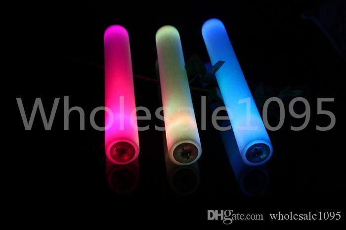 400 шт. / Лот 3.6 * 40 см Сплошной Красный Синий Зеленый Розовый Светодиодные Пены Стик Led Батон Glow Stick