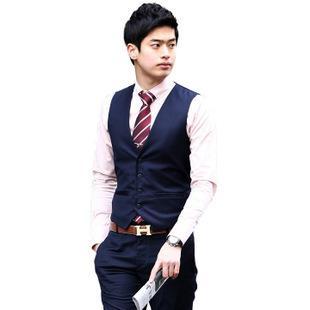 2017 Hot Men Vest Men Slim Korean Fashion Casual Men Suit Vest ...