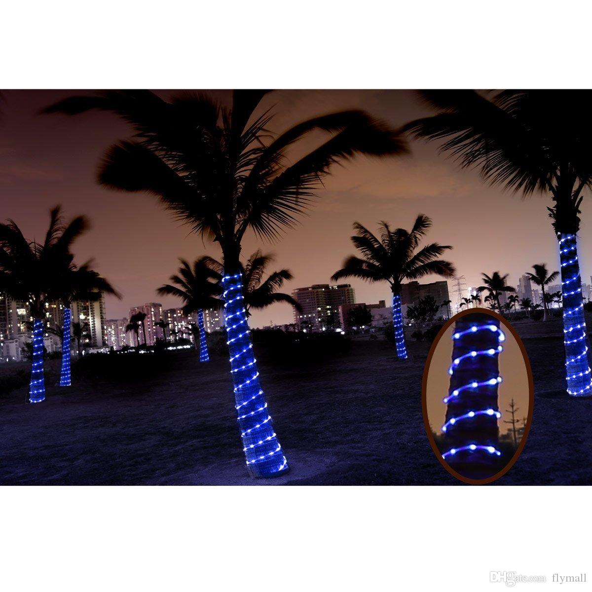 Waterproof 23ft LED Solar Rope Lights 7M 50 LEDs 1.2V Cool/Warm White Blue RGB Portable Christmas Wedding Party Fairy Outdoor Rope Lights