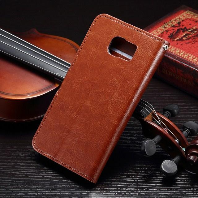 Custodia Flip Custodia in pelle portafoglio Custodia con slot schede iPhone 5 5S 5C 6G 6 Plus 6+ 7 plus Samsung Galaxy S4 S5 bordo S6 plus bordo S7