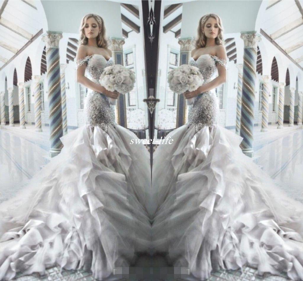 Pnina Tornai 2016 Rhinestone Mermaid Wedding Dresses With Sweetheart ...