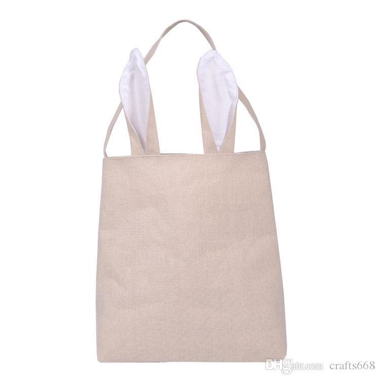 Easter Bunny Bag celebration gifts easter hare cotton canvas handbags shopping bag easter gift