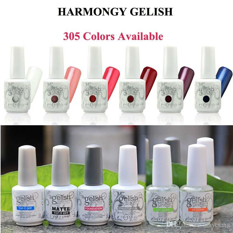 Harmony Gelish Nail Polish STRUCTURE GEL Soak Off Clear Nail Gel LED UV nail art Gel Polish TOP it off and Foundation frence nails