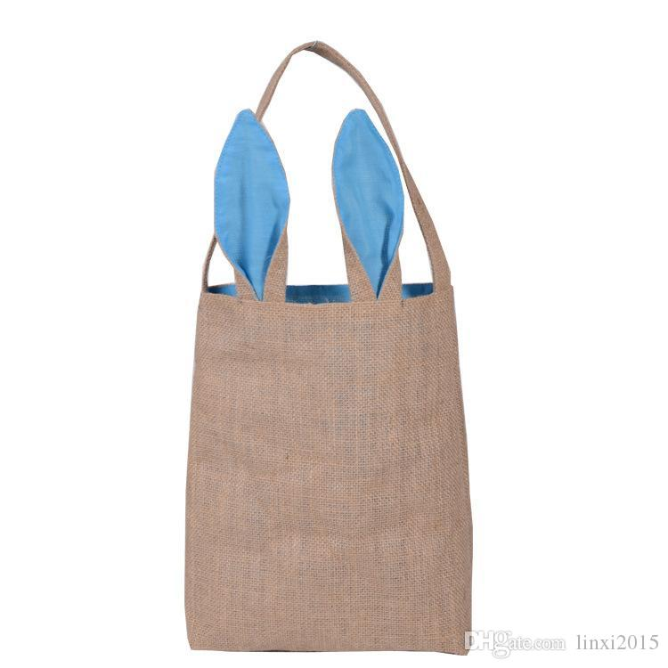 2018 wholesale cute cotton and linen easter bunny ears basket bag 2018 wholesale cute cotton and linen easter bunny ears basket bag for easter gift packing easter handbag for child fine festival gift by dhl from linxi2015 negle Image collections