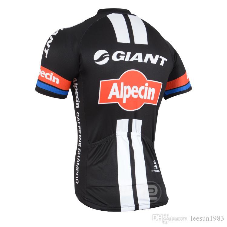 2015 GIANT -ALPECIN PRO TEAM черный G07 только с коротким рукавом ROPA CICLISMO рубашка велоспорт Джерси велоспорт одежда размер:XS-4XL