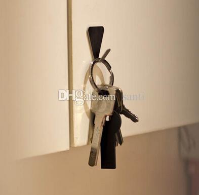 جديد وصول الطازجة الفولاذ المقاوم للصدأ عائلة روب السنانير القبعات حقيبة مفتاح لاصق جدار شماعات الحمام المطبخ الباب الإمدادات