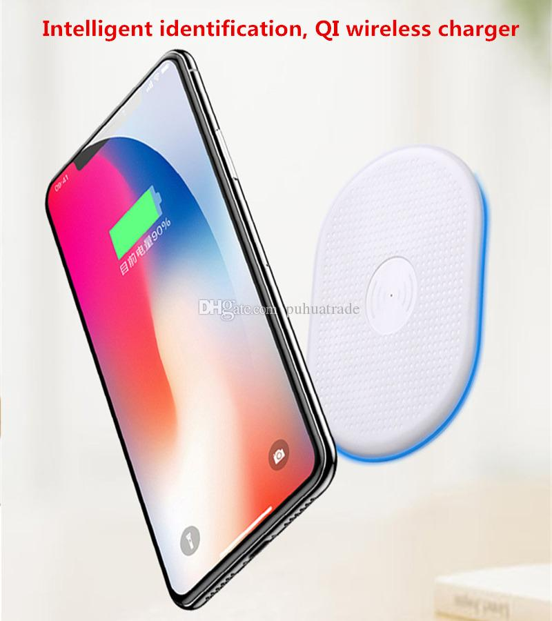 2018 Newest for iphoneX Qi Wireless Charger Cell phone with Protection Charge Pad Qi-abled device for Samsung apple nokia htc LG S6 6
