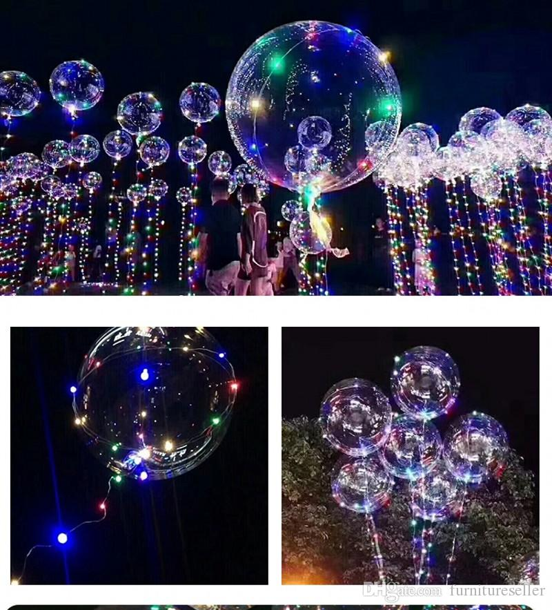 20 Inch Clear Bubble Balloon With Led Strip Copper Wire Luminous Led Balloons Birthday Party Supplies For Wedding Decorations Festive & Party Supplies Ballons & Accessories
