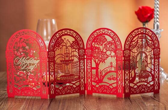 Red Wedding Invitations Cards Chinese Wedding Invitations Bridal – Chinese Wedding Invitations