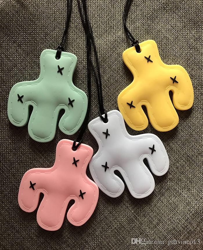 New Cactus Silicone Pendant Necklace Cactus Plant Shape Teething Baby Toy Chew Nursing Necklace