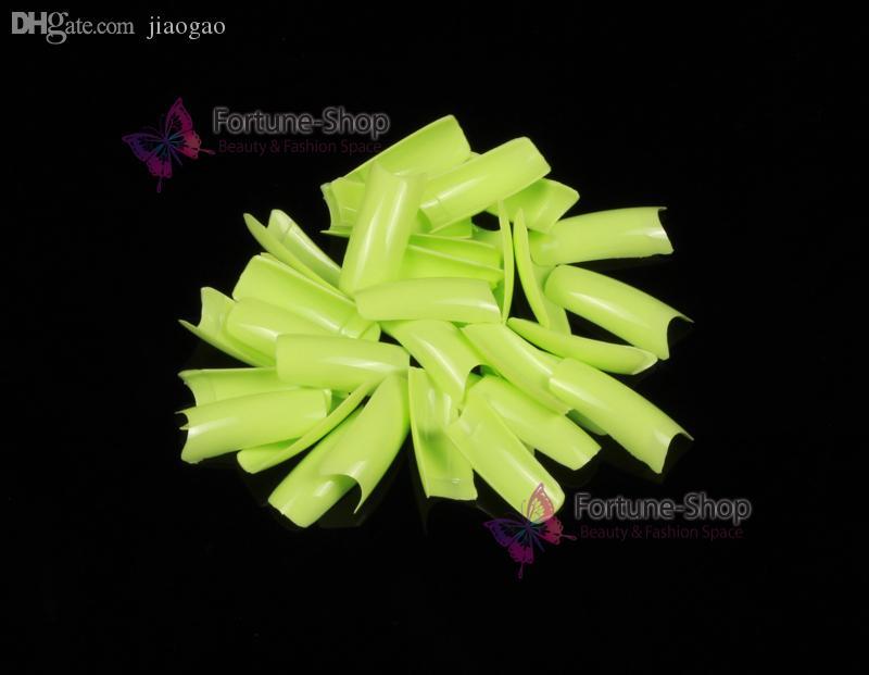 Compre Lignt Verde Colores Completos Extremidades Del Clavo Del Arte ...