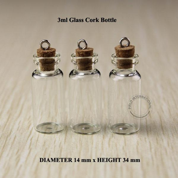 Decorative Bottles With Corks New 3Ml Mini Small Glass Bottles Vials Jars With Corks Decorative Decorating Inspiration