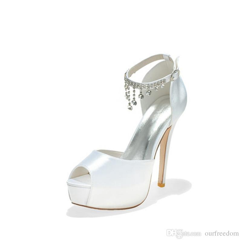3128-21 Uniques White Wedding Shoes Size 12.7CM Open Toe Custom Made Evening Party Shoes For Women 2019 New Arrival