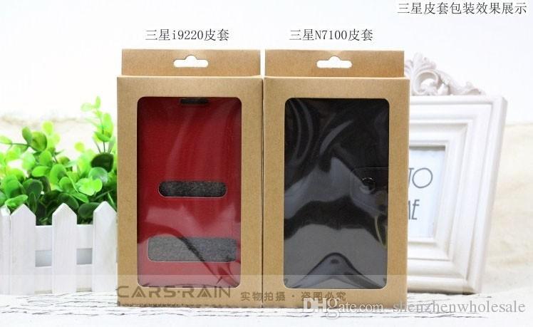 Новые пустой бумаги пакет box для Samsung Galaxy S2 3 4 Примечание Xiaomi 3 кожаный чехол обложка розничная Упаковка без печати