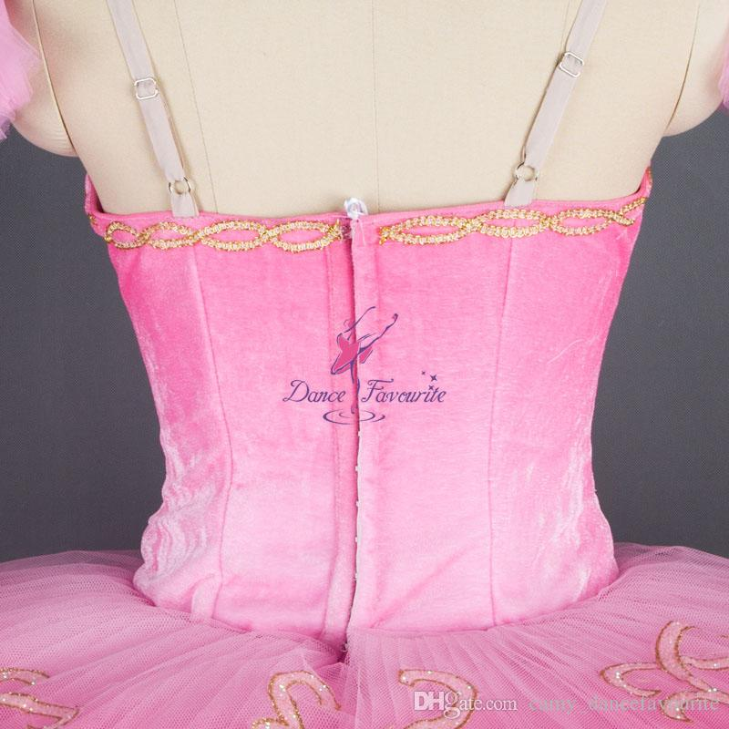 Customized Pink Classical Ballet Dance Tutus for Adult Girls Solo Dance Performance or Competition Ballerina Dress 181131