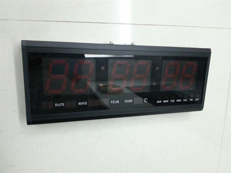 Ht4819sm 1Aluminum Large Digital Led Wall Clock Big Watch Modern DesignDigital Electronic Calendar Clocks Contemporary Deals