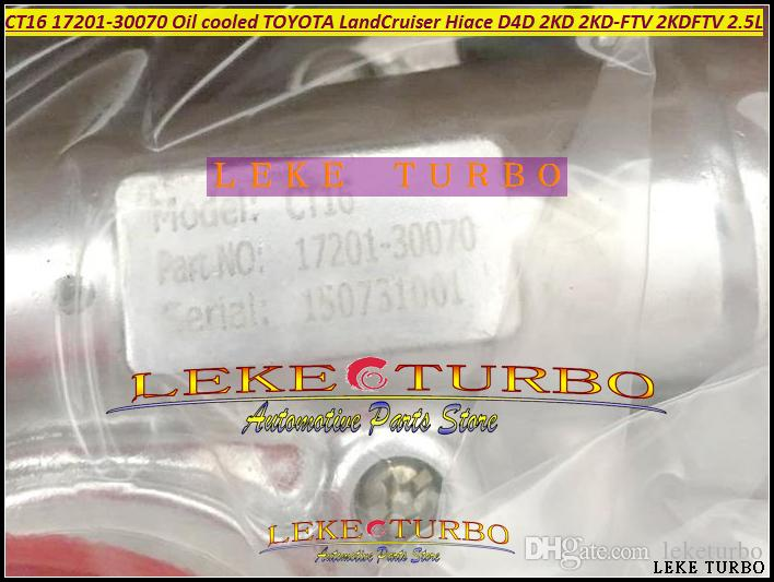 CT16 17201-30070 17201 30070 17201-масло OL050 охладило турбонагнетатель Turbo для крейсера земли Hiace D4D 2KD 2KD-FTV 2.5 L Тойота LandCruiser