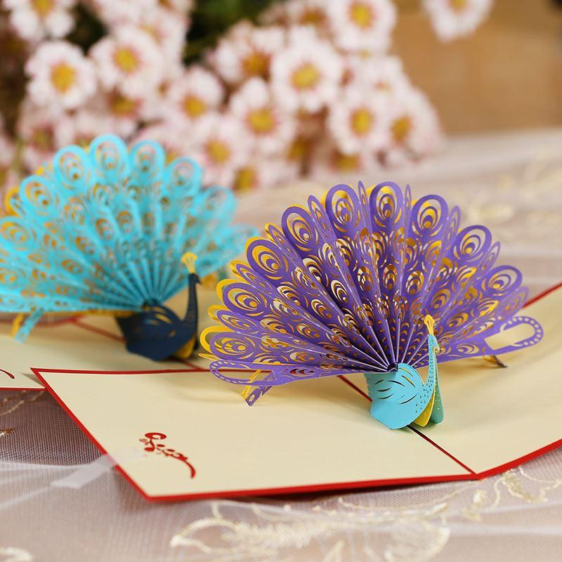 new fashion 3d diy handmade paper craft greeting card