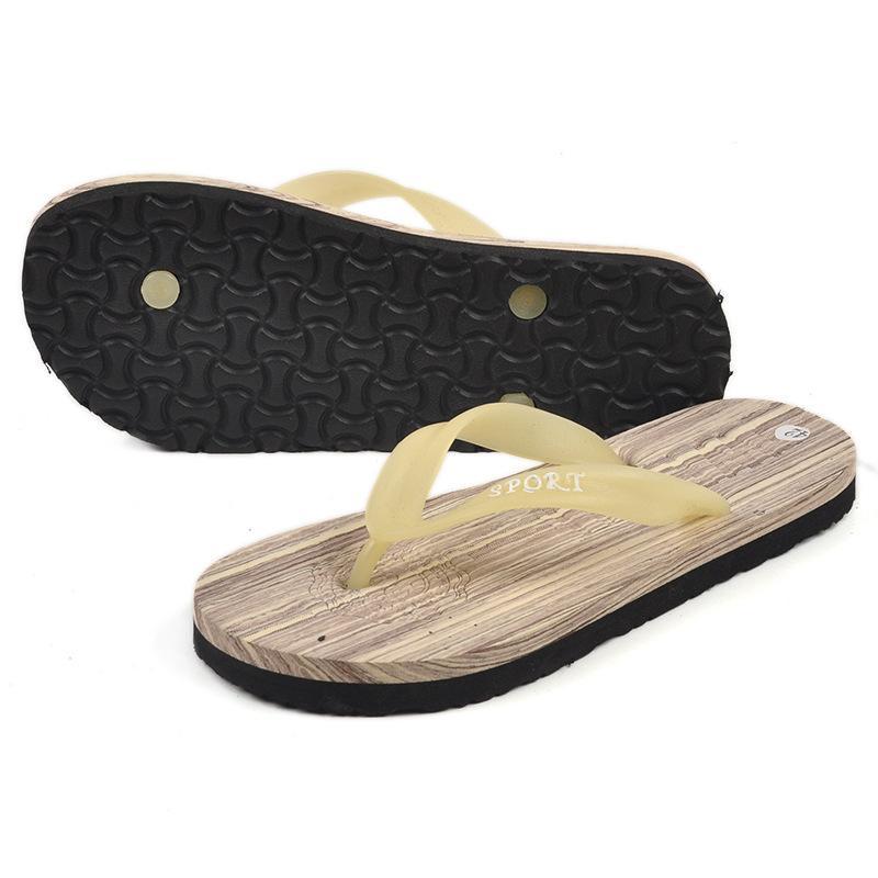 Arbeiten Sie Mens-Sandelholz-Strand-Flipflop-zufällige Mann-Hefterzufuhren Mann-Müßiggänger-Sommerart zapatos mujer Alias um Freies Verschiffen