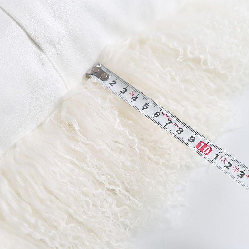 Almofada do assento de pele de pele de cordeiro Tibet 45 * 45 cm, Ningxia pele de ovelha tapete de almofada de assento para sala de estar, curly Mongolian sheep fur seat cushion