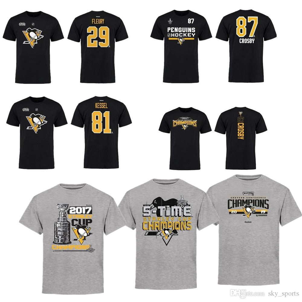 edf04ce37 2017 NHL Pittsburgh Penguins 87# Sidney Crosby Eastern Conference Champions  T Shirt For Man Women Kid NHL Jersey Tea Shirt Vintage Tee Shirts From ...