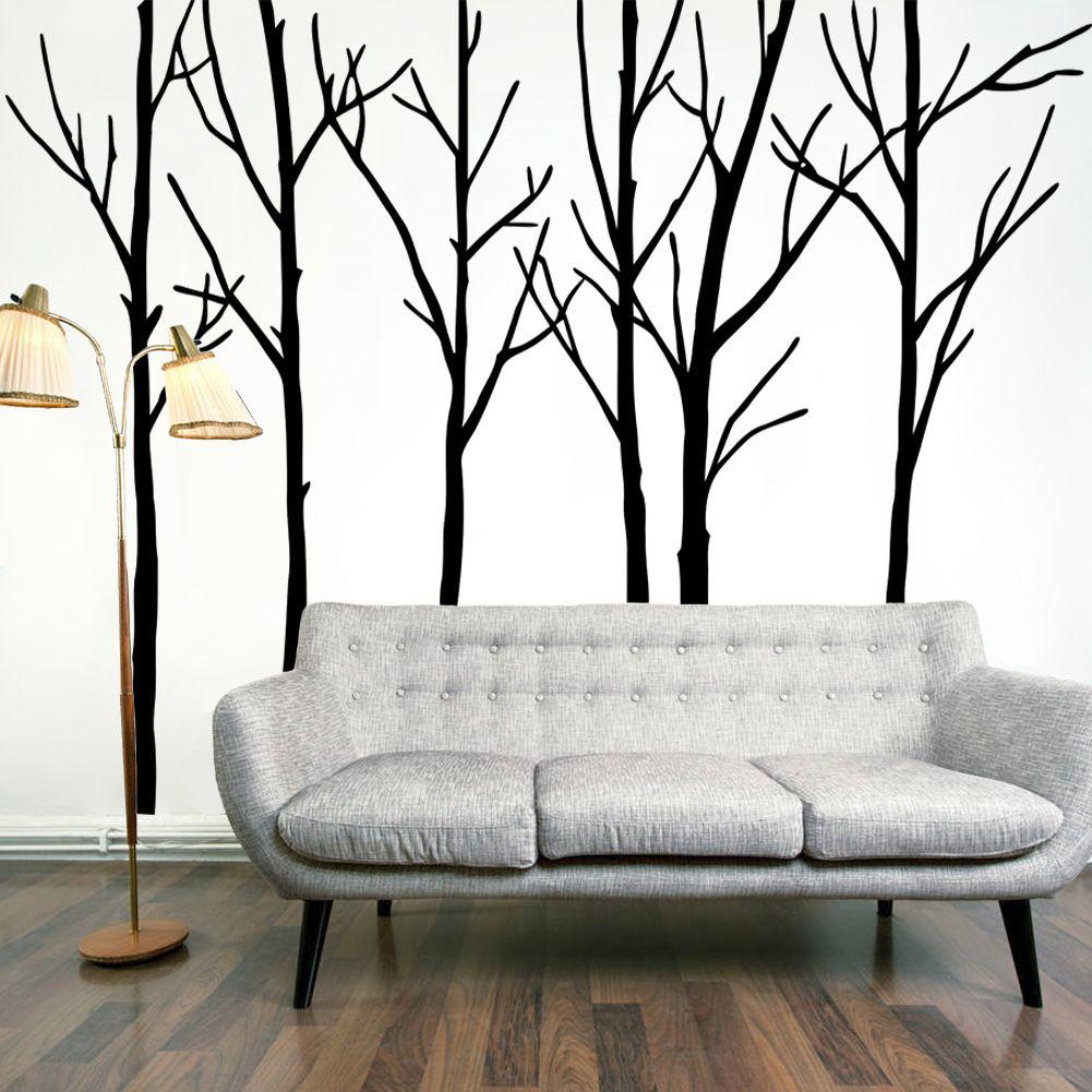 Acheter extra large black tree branches mur art décor mural sticker transfert salon chambre fond wall decal affiche graphique 288 x 200 cm de 27 64 du