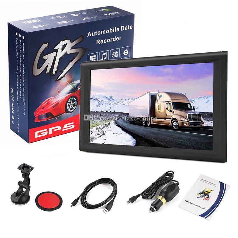 HD 9 인치 자동차 네비게이션 트럭 GPS 네비게이터 자동 SAT NAV 256MB + 8GB지도 WinCE 6.0 FM Bluetooth Avin 지원 다중 언어