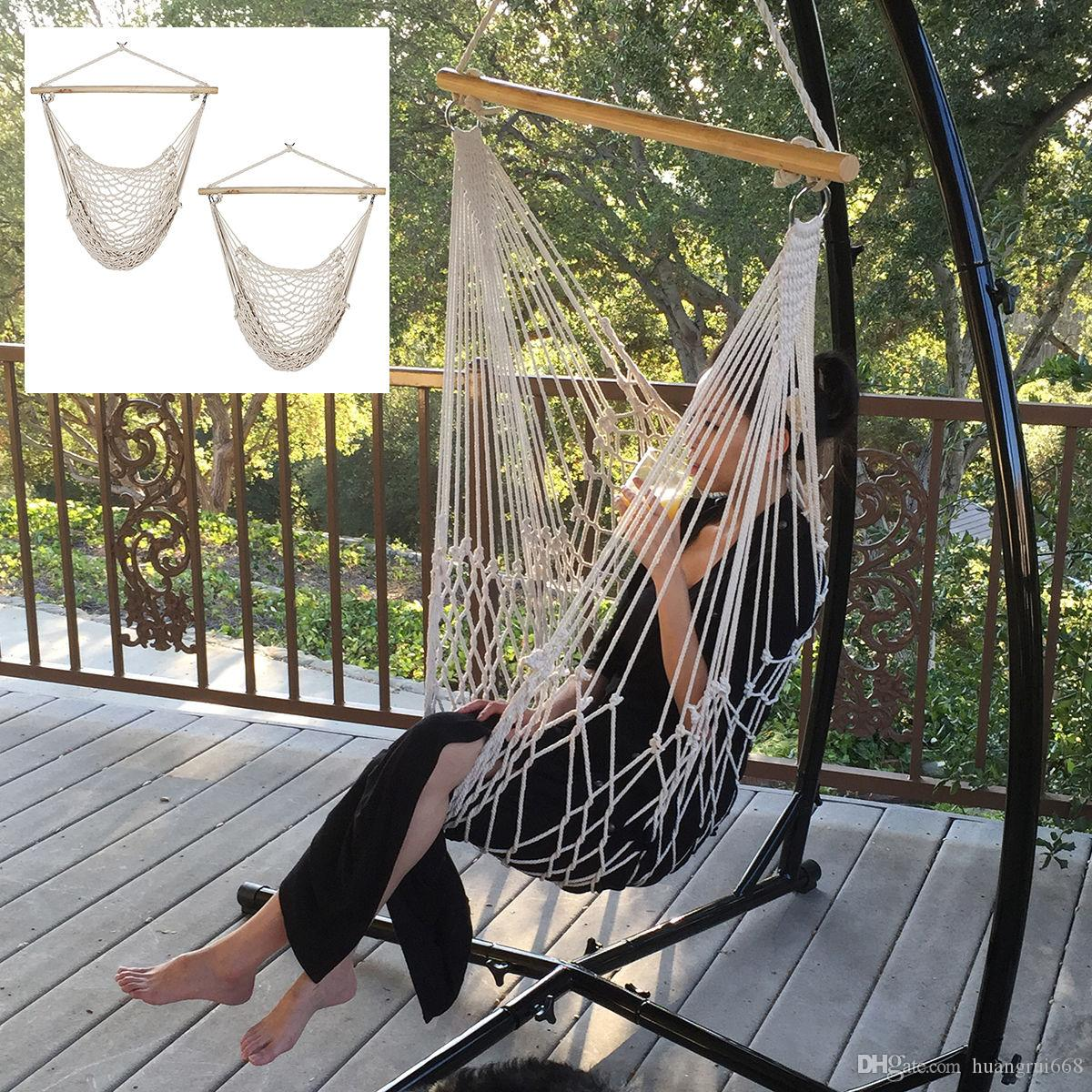 2018 2 X Porch Cotton Swing Rope Hammock Patio Garden Hanging Air Chair 200  Cap New From Huangrui668, $44.22 | Dhgate.Com