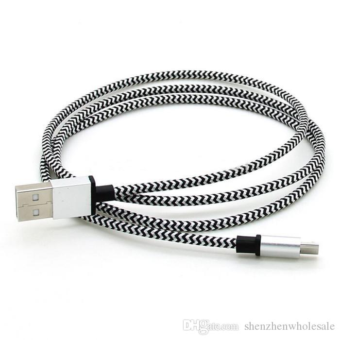/ 1M los 3FT 2M los 6FT Tela de aluminio micro USB cable de la fecha de sincronización cable cargador para Sumsung S7 S6 S5 S4 i9500 Nota7 6 5 HTC Huawei