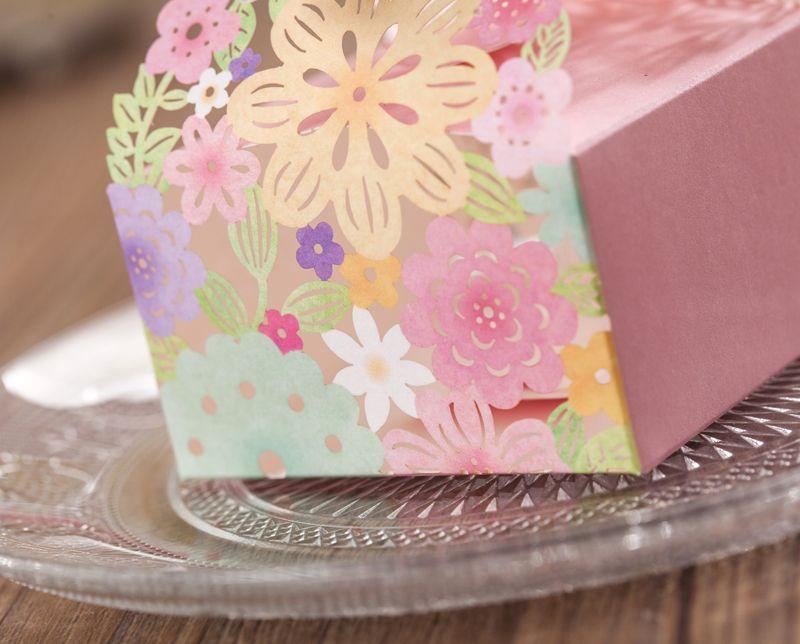 결혼식 호의 선물 상자 레이저 호의 호의 종이 호의 상자 꽃 결혼식 파티 사탕 상자 결혼식 종이 레이저 초콜렛 선물 상자