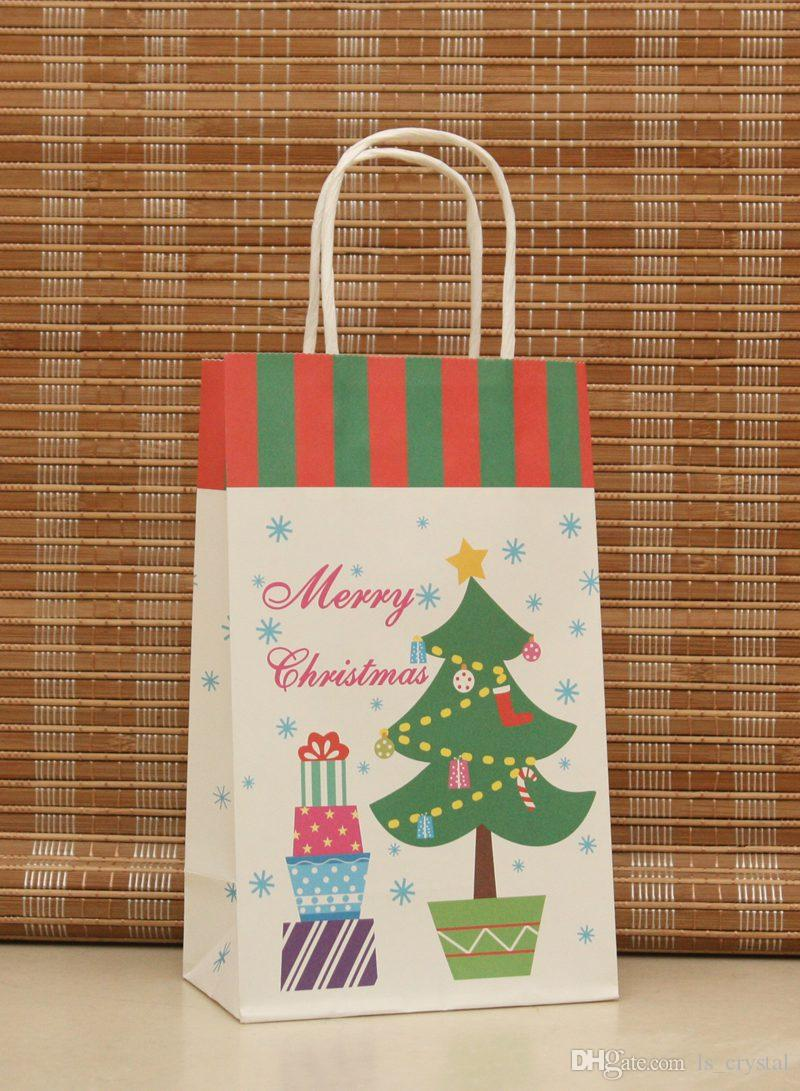 14 Design Paper Gift Bag for Christmas Gift Recyclable Kraft Bag Party Supplies WS002
