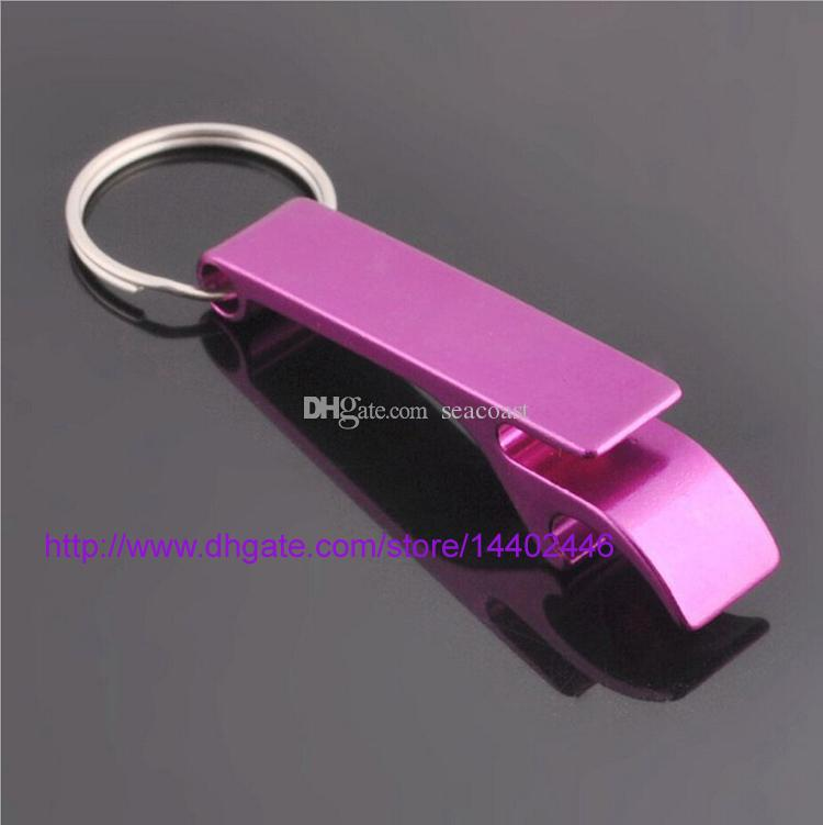 Logo key chain metal aluminum alloy keychain ring beer Can bottle opener Openers Tool Gear Beverage custom personalized