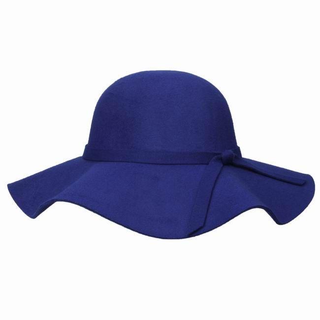 Stylish Women Faux Wool Felt Hats Outdoor Royalblue Casual Wide Brim Caps  Summer Beach Travel Sun Hats EKN6 1 Snapback Hats Straw Hat From  Diygoodcraft b6bdc46da93