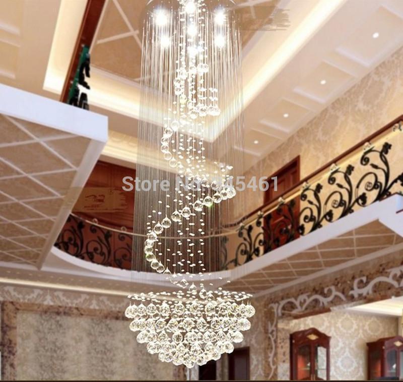Led Modern Minimalist Duplex Staircase Chandelier Crystal ...