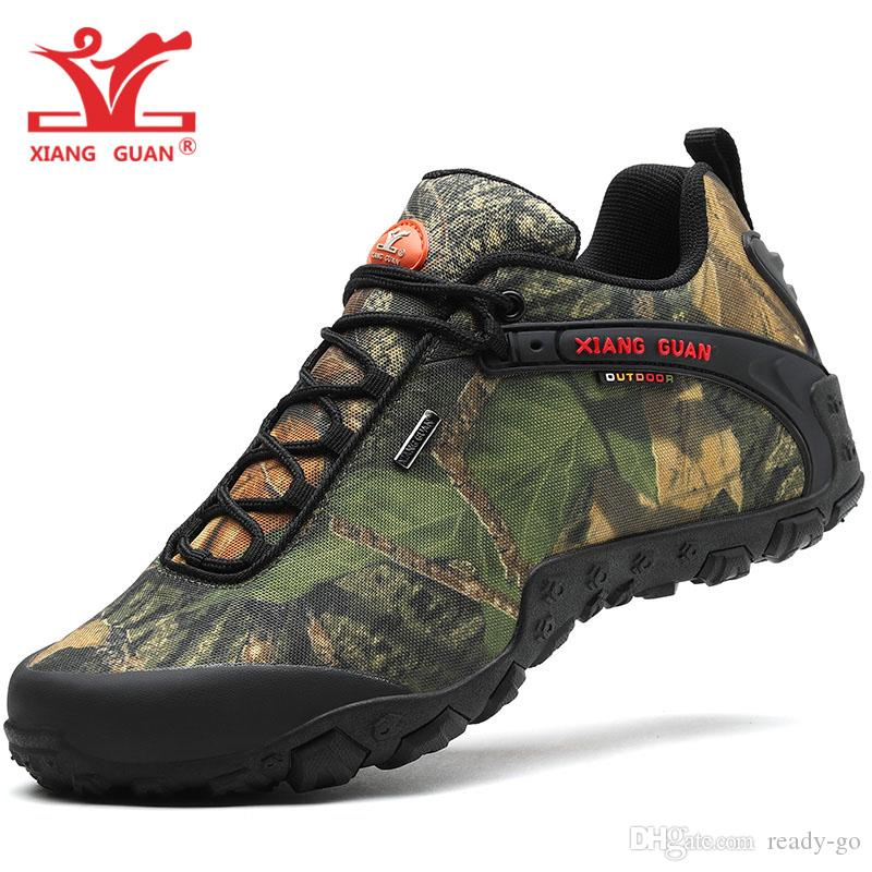 Acheter XIANGGUAN Homme Imperméable Randonnée Chaussures Pour Hommes  Trekking Tactique Botte Sport Escalade Chaussure Forêt Camouflage En Plein  Air Baskets ... 156e88a89cd6