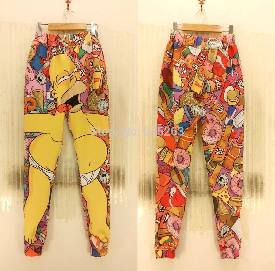 2018 Fg1509 New Joggers Style Hot Bart Simpson Print Women Girl