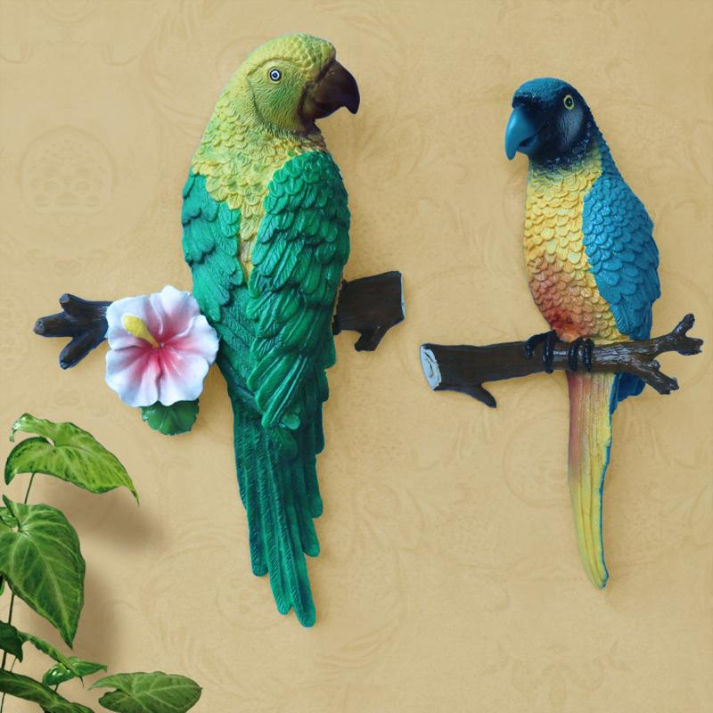 Home Decoration Accessories Wall Stickers 3d Rustic Parrot Decor ...