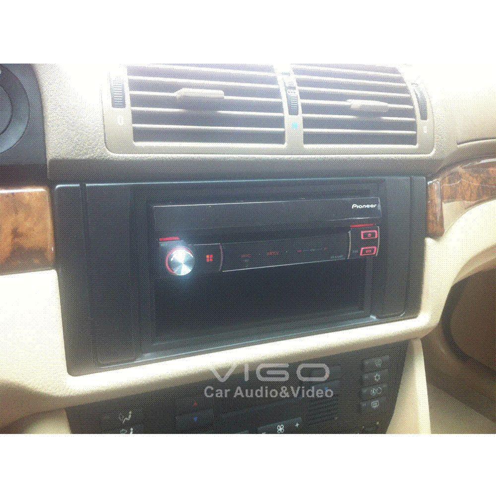 11 041 Car Radio Facia For Bmw 5 Series E39 X5 E53 Stereo Dash Kit Install Fascia Face Plate Surround Panel Frame Doulble Din Alarm Supplier