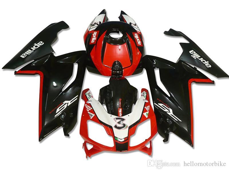 4 Gifts New Fairings Injeção ABS conjuntos de carenagem bicicleta completa para aprilia RS125 2006-2011 RS 125 06 07 08 09 10 11 conjunto de carroçaria RS4 vermelho preto