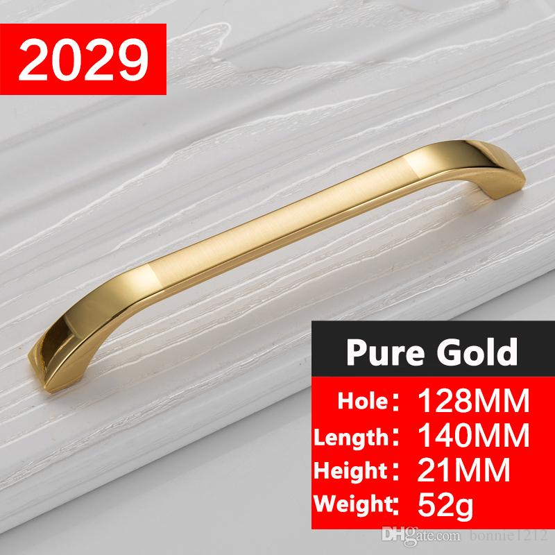 wholesale concise morden gold handles cabinet hardware kitchen