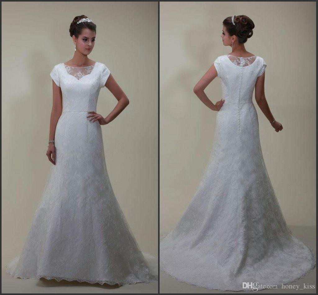Wedding Dresses With Sweetheart Neckline And Sleeves: Discount 2015 Modest Wedding Dress Sweetheart Neckline