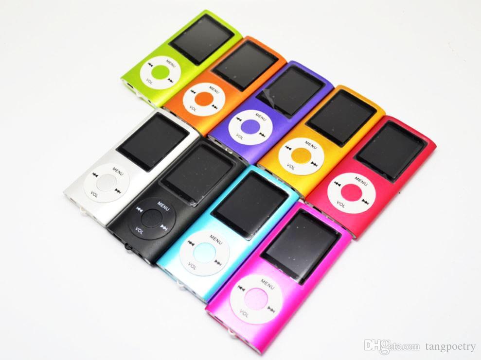40X 1.8-Zoll-Bildschirm 4. mp3 mp4-Player mit Kartensteckplatz FM-Radio Voice Recorder 9 Farben USB-Kabel + Kopfhörer + Kleinkästen 5-MP