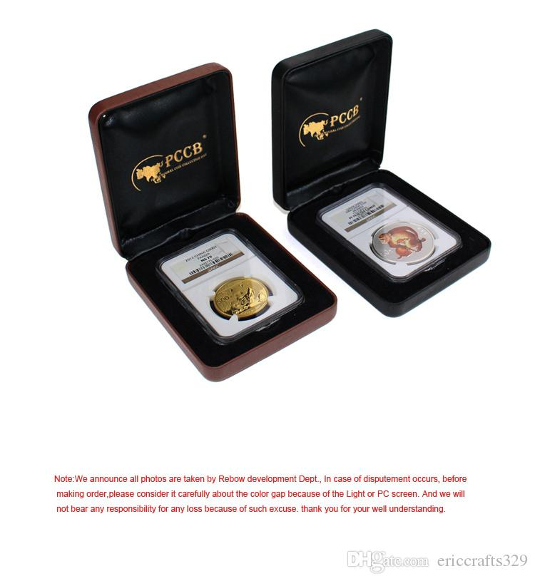 Hot Sale Regular Wholesale 100% Acrylic Novel Rectangle Coin Exquisite Case Identify Gift Box Drop Shipping