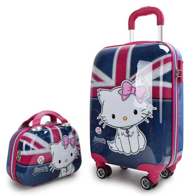 Ems Freeship Monster High Hello Kitty Trolley Bags Set Women 20   ...