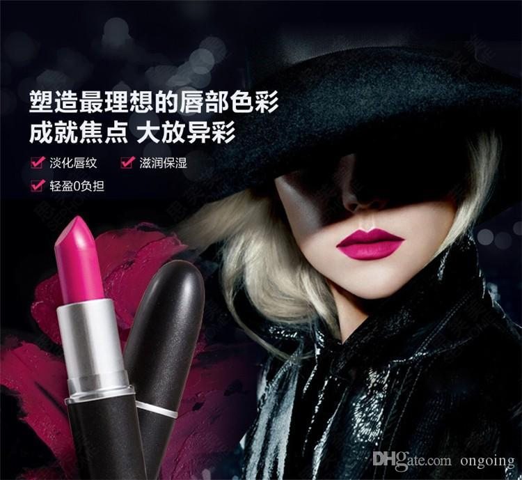 .2015 HOT NEW M Makeup Luster Lipstick Frost Matte Lipstick 3g lipstick with english name DHL free