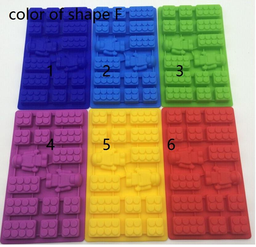 LEGO Family Party Building Blocks and Robots Ice Bricks Chocolate Ice Cake Jelly Mold Silicone Ice Cube Tray Brick 2016 New Hot Sale!