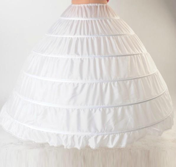 Plus Size Crinoline Sottoveste gonna nuziale 6 Hooped sottoveste abiti da ballo vita 25 pollici-55 pollici di alta qualità in magazzino Accessorie di nozze