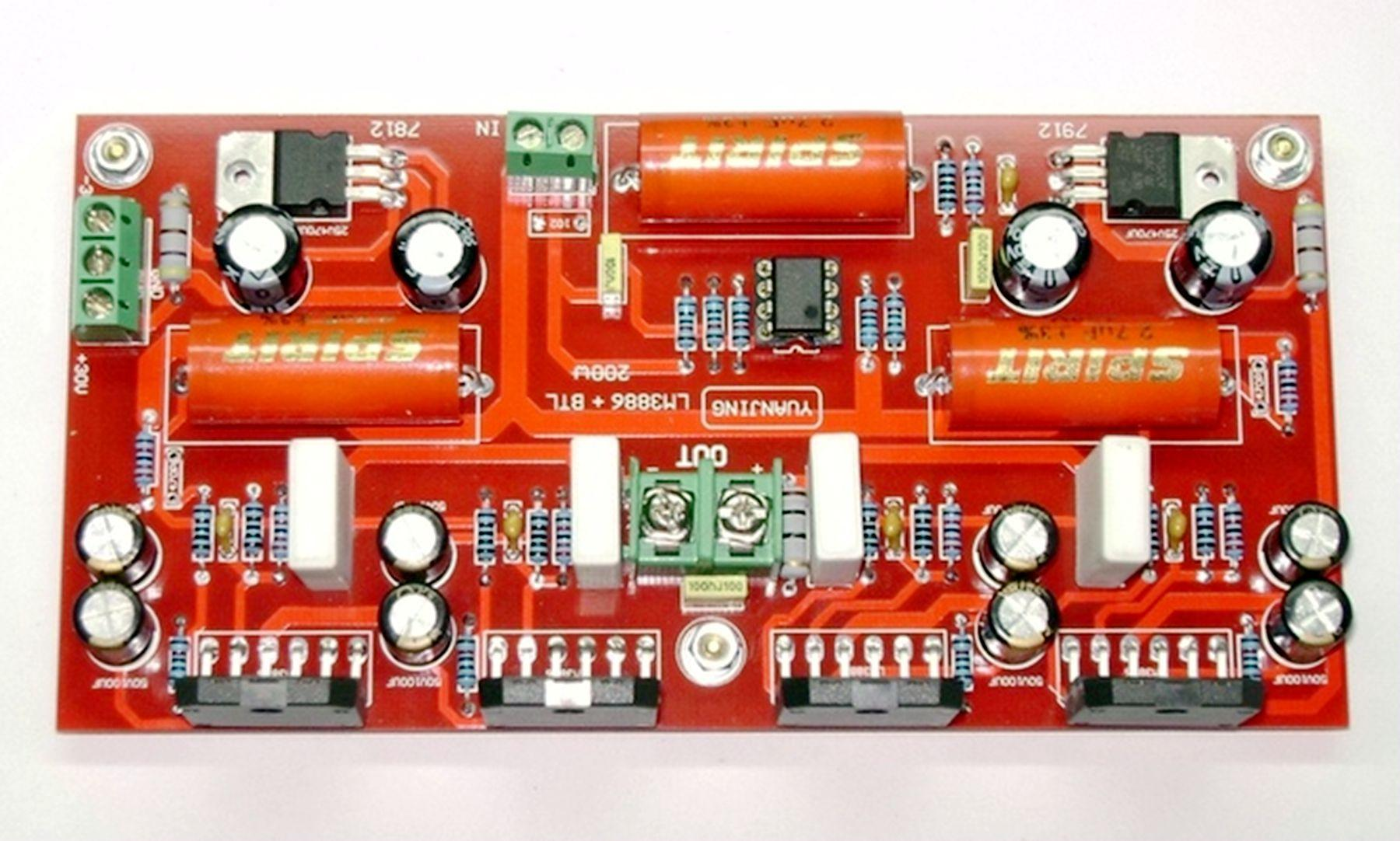 2018 Lm3886 Ne5532 Parallel Btl Amplifier Board 200w Mono High Power Circuit Using Integrated Fever From Wonderful Land 5329